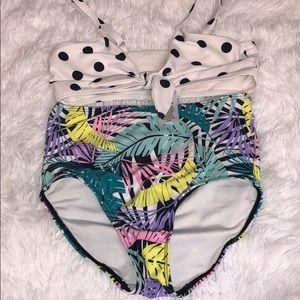Tucker & Tate girls high rise bathing suit